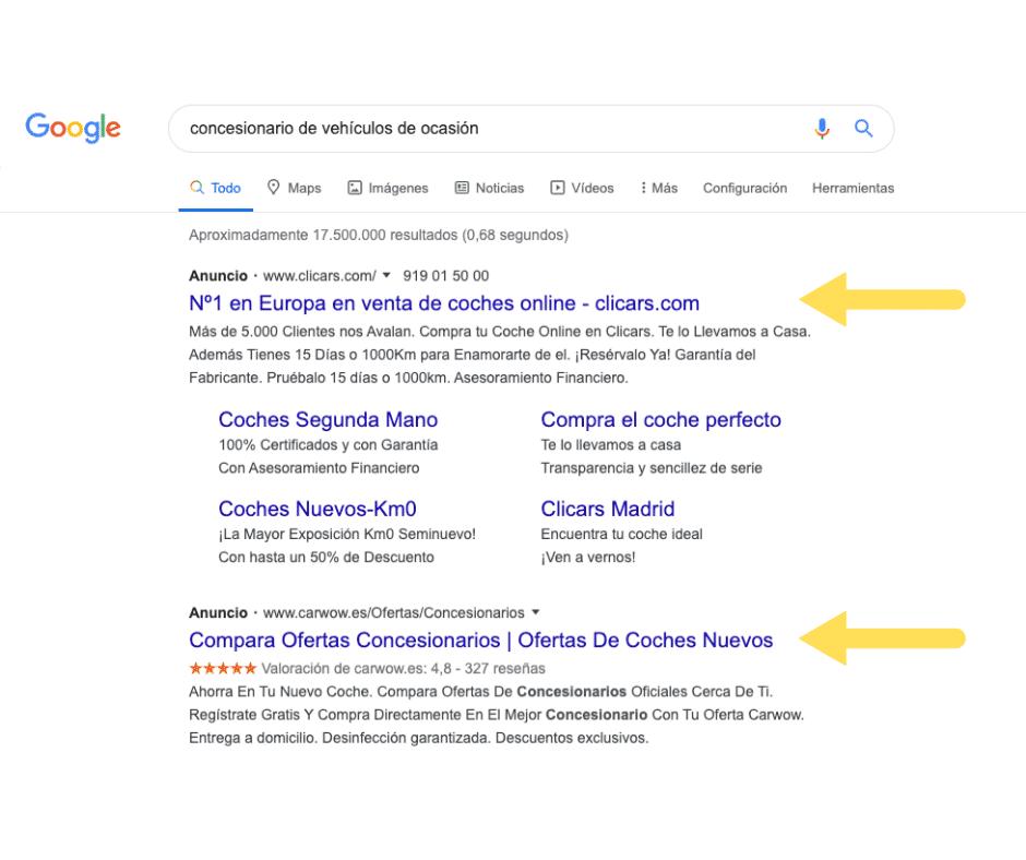 Primeras posiciones en Google gracias al Posicionamiento Sem.